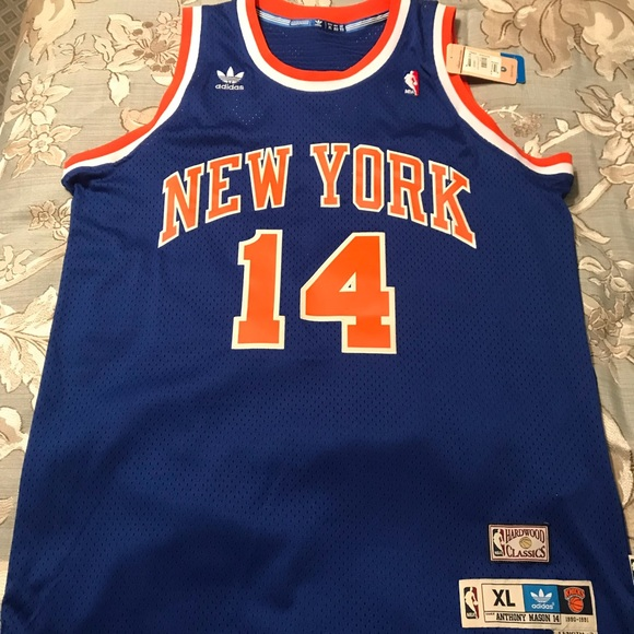 00457535ab4c1 NBA hardwood classic New York Knicks Mason Jersey